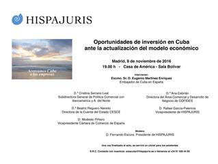 Jornada sobre oportunidades de inversión en Cuba ante la actualización del modelo económico