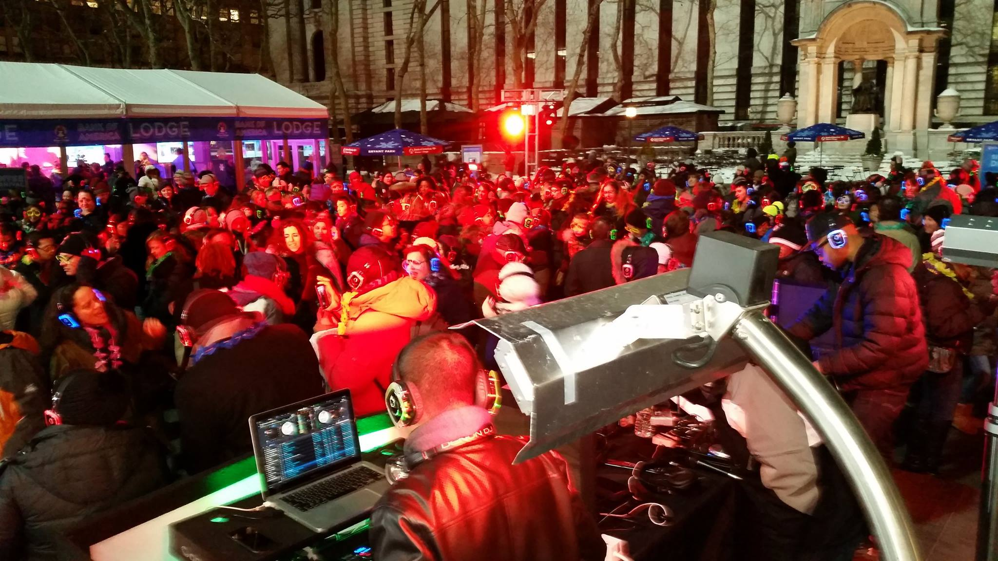 Silent Disco at Bryant Park