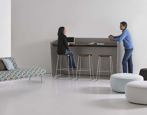 Hug Desking Collection by Hines Fischer for Bernhardt Design
