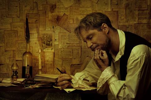 Poet at the attic