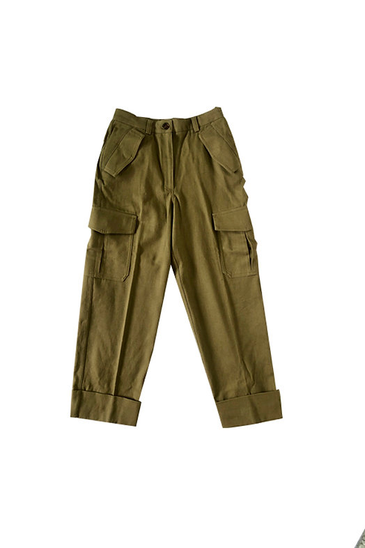 Pantalon palazzo militar