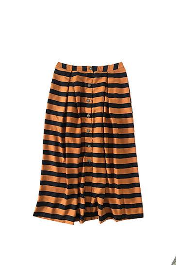 Falda satinada rayas