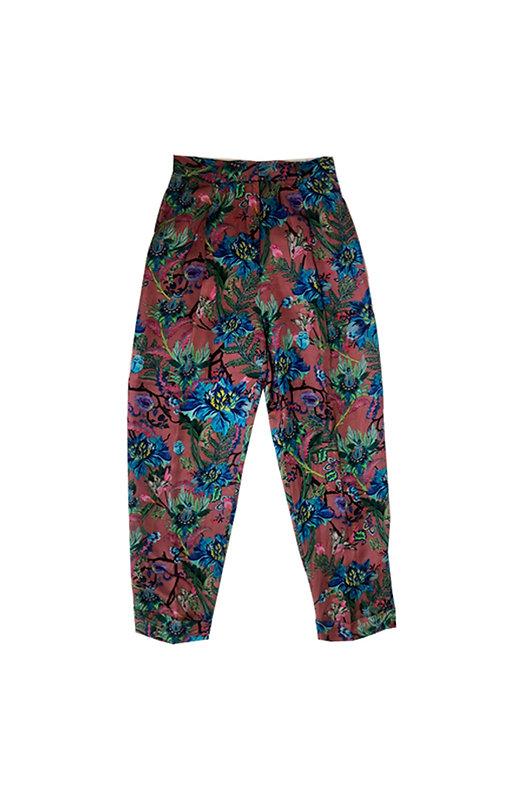 Traje-Pantalon flores