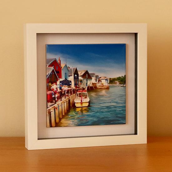 Framed Ceramic Art Tile - On the Quay