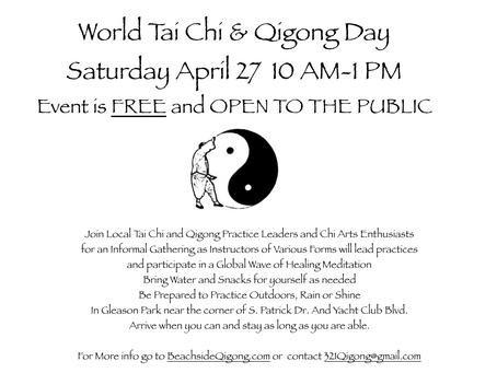 World Tai Chi & Qigong Day 2019