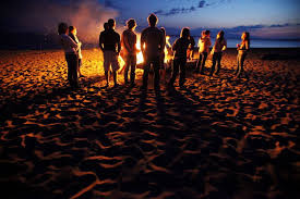 New Year Beach Bonfire