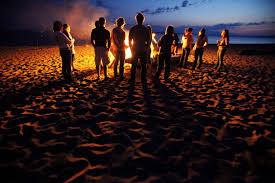 New Year Beach Bonfire