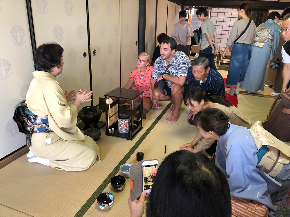 UIA 宮島大茶会 英語で茶道