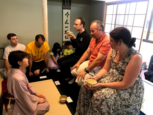 tea ceremony in chair