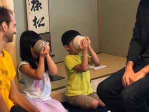 kids experience tea ceremony