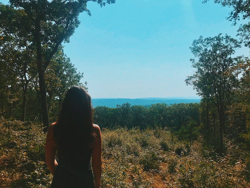 Girl looking at a landscape, international students in us, blog,  alien thoughts
