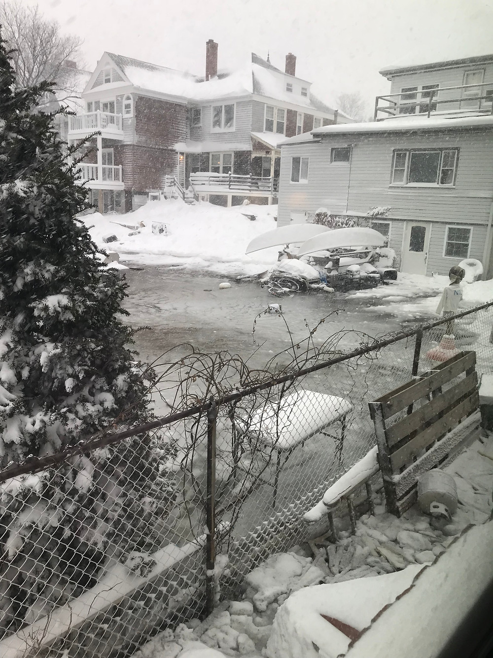 Flooding in winter in Boston 2018, winthrop, ma, international students blog, alien thoughts