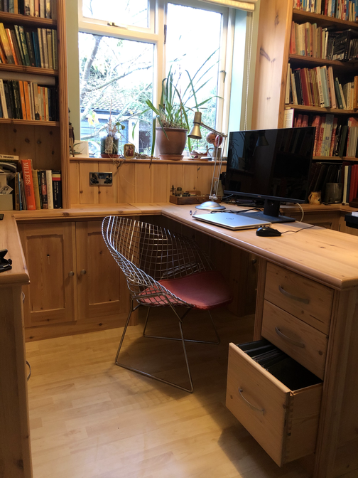 Environmentally friendly Office furniture from reclaimed pine, Cambridgeshire. 2015