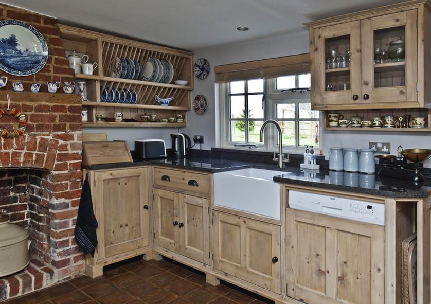 Limewashed Reclaimed Pine Kitchen, Cambridgeshire. 2011