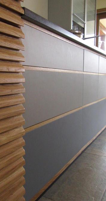 Linoleum faced Kitchen Cabinet, Norfolk. 2016