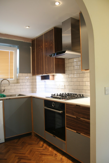 Linoleum Faced Kitchen Furniture, Cambridge. 2020