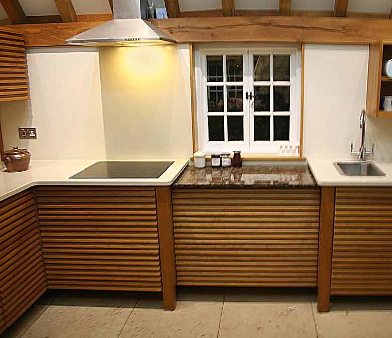 Sustainable Oak Waterfall Kitchen Furniture, Suffolk. 2013