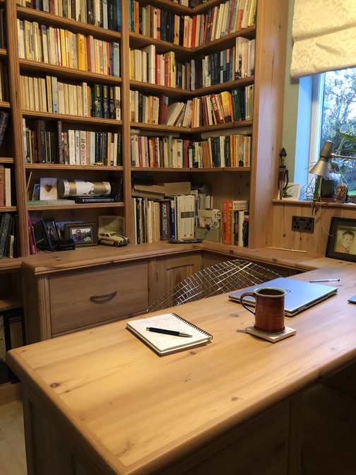 Bespoke solid wood home office furniture, Cambridgeshire. 2015