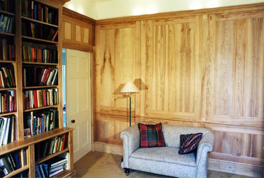 Sustainable Ash panelled Library, Cambridge. 1999