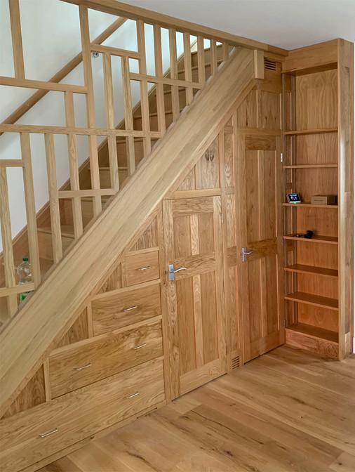 Sustainable Oak Under Stair Storage, Cambridge. 2021