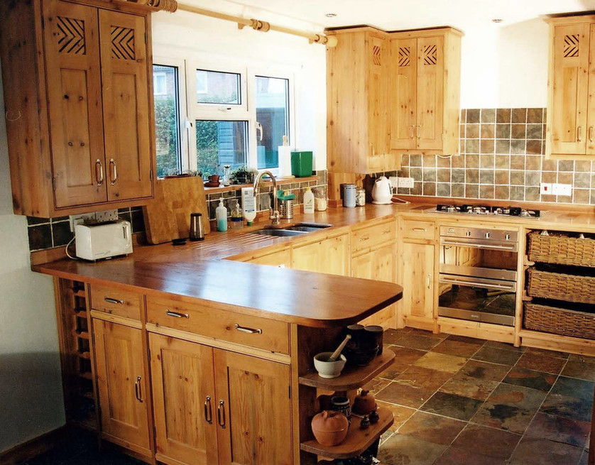 New from Old reclaimed pine kitchen, Cambridge. 2002