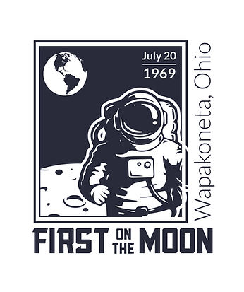 Wapak First on the Moon Committee Logo 6