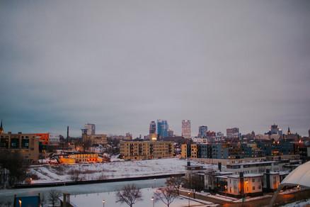 The Milwaukee Skyline from Kadish Park