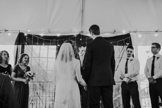 A bride and groom enjoy their Milwaukee, Wisconsin wedding ceremony
