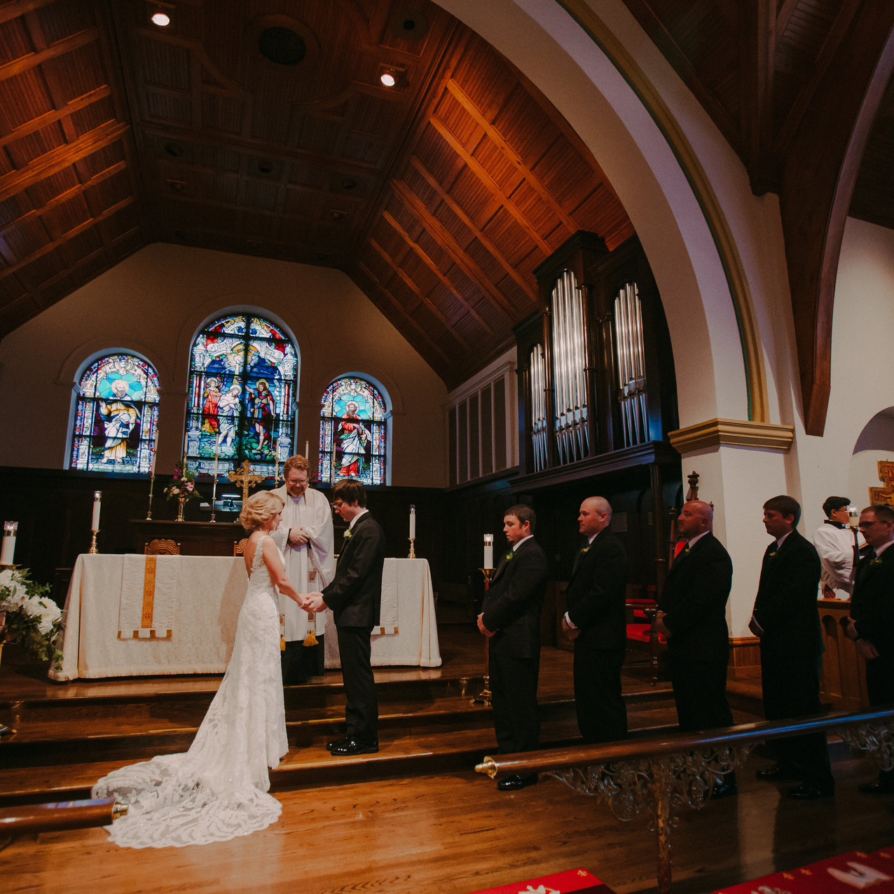 A wedding ceremony in Oshkosh Wisconsin