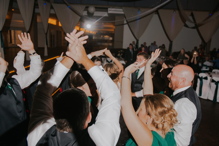 Guests dance during an Oshkosh wedding