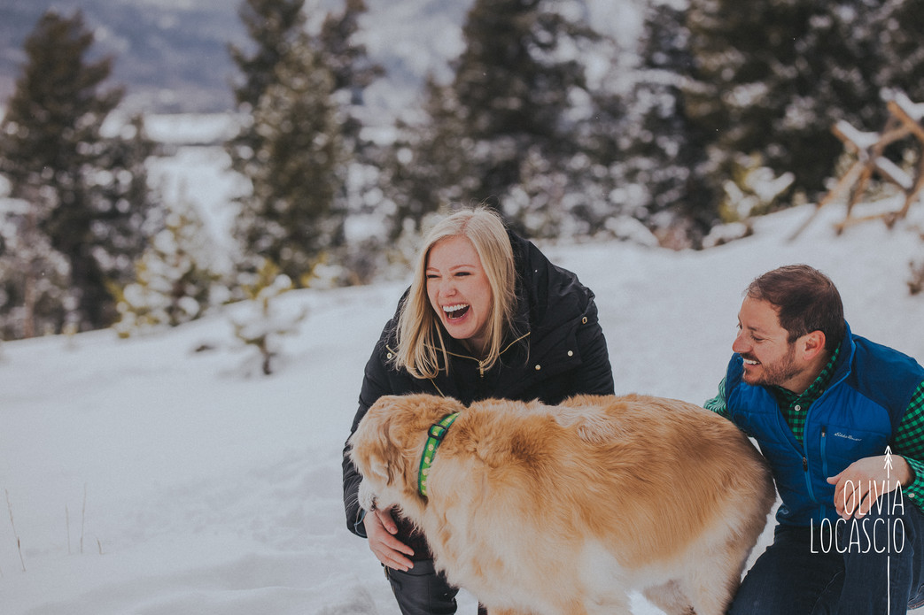 Sapphire Point Engagement Session - Colorado Winter Engagement