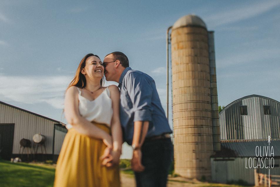 Wisconsin Engagement Photographer - Farm Engagement Session