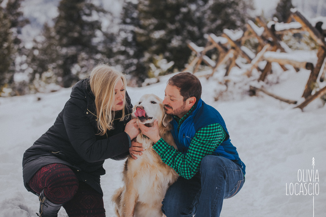Sapphire Point Engagement Session - Colorado Winter Wedding