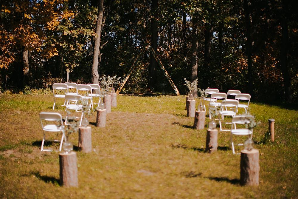 boho vintage wedding in Wisconsin