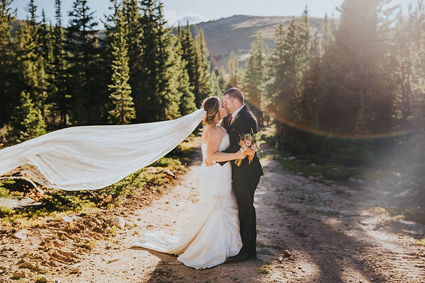 A bride and groom kiss during a midwest wedding