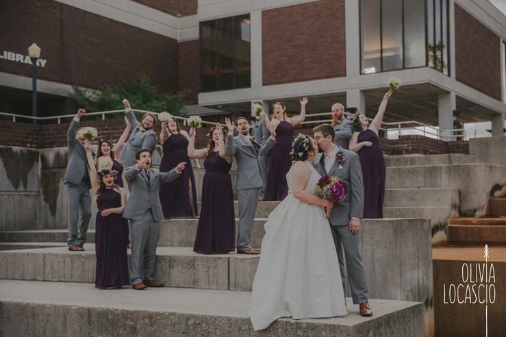 Wisconsin Wedding Photographers - Mead Public Library Wedding Photos