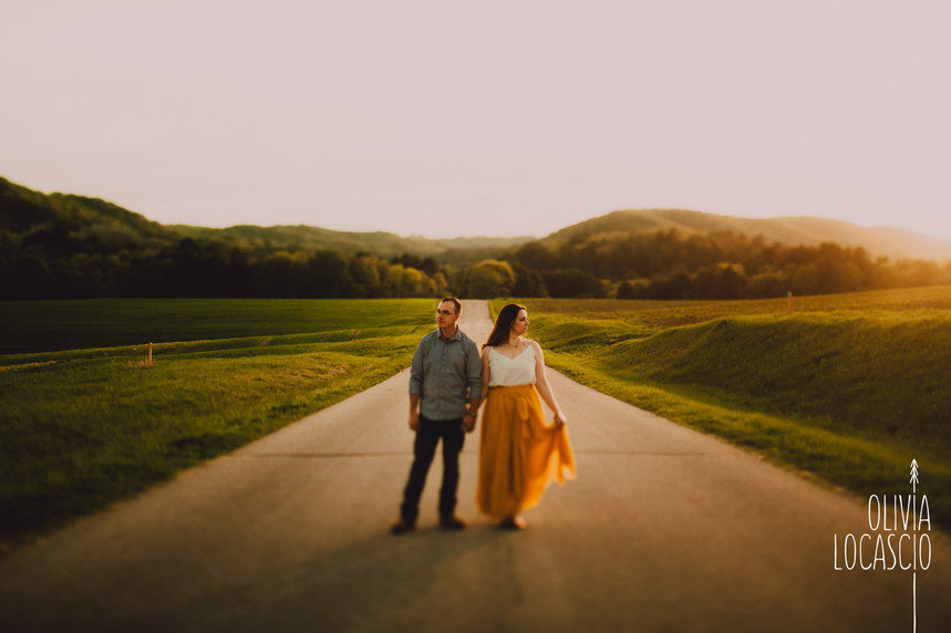 Wisconsin Engagement Session - Yellow Skirt