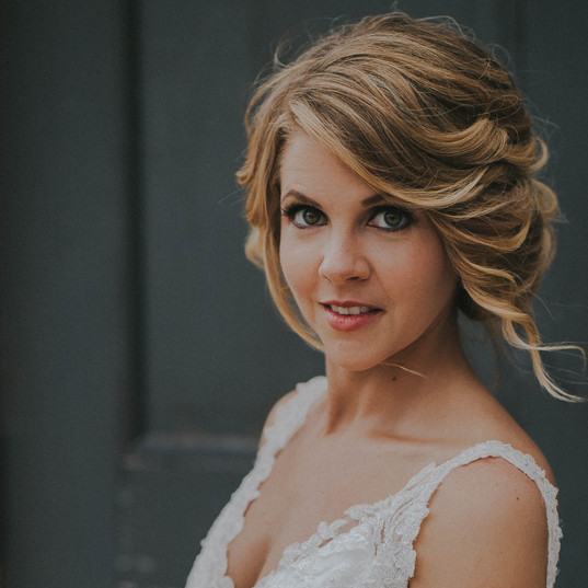 A portrait of a bride in a  Becket's Oshkosh, Wisconsin wedding