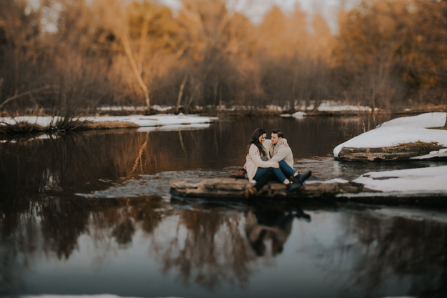 A couple holds each other in Stevens Point, Wisconsin