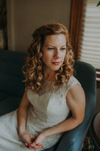 A portrait of a bride in a downtown Milwaukee wedding
