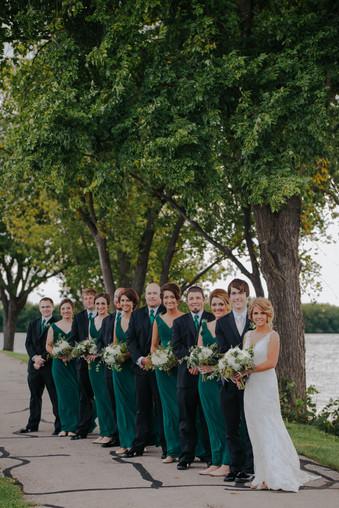 Wedding party photos at Asylum Point Oshkosh