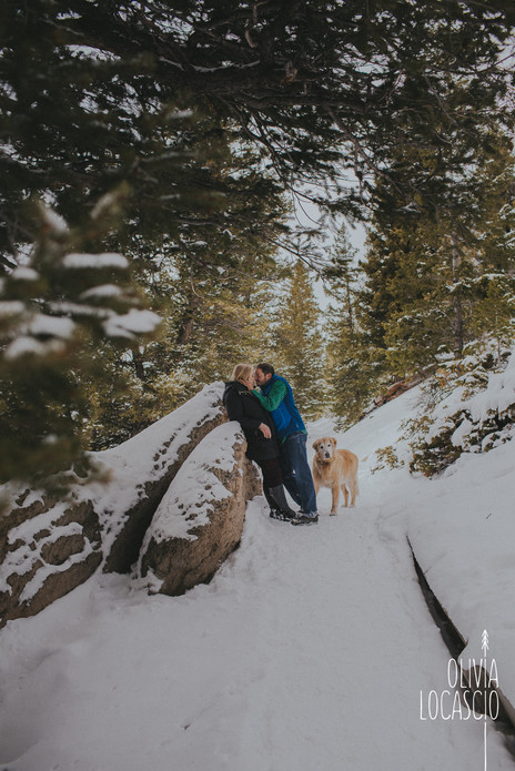 Sapphire Point Engagement Session - Colorado Engagement Session with Dogs