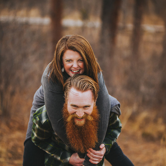 A man gives a woman a piggy back ride in Green Bay, Wisconsin