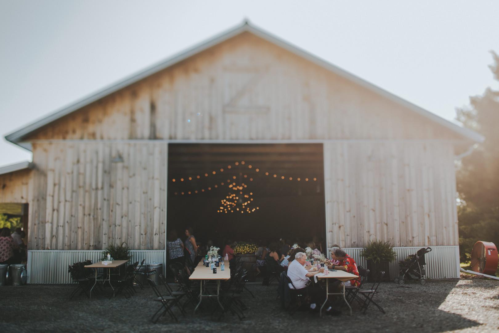 A barn reception in Stevens Point Wisconsin