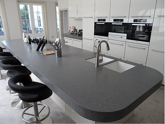 Solid surface kitchen worktop