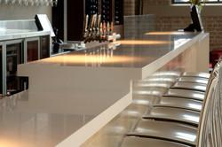 Hanex solid surface bar worktop