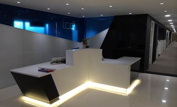 Solid Surface office reception desk