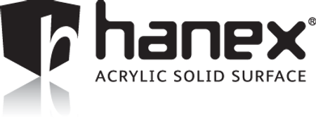 Hanex solid surface logo