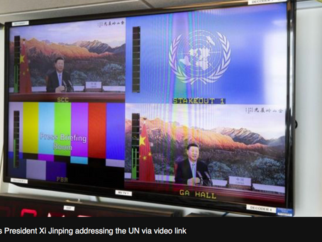 Climate Change: China aims for 'carbon neutrality by 2060'. BBC - 22 Sept 2020