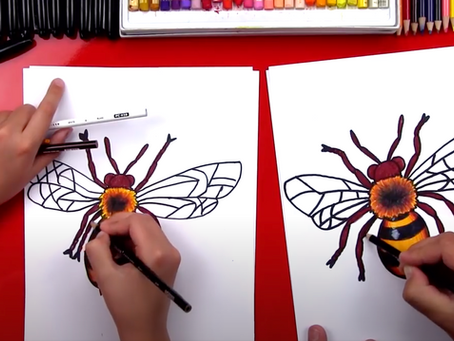 How to draw a bee - Youtube tutorial